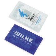 Pfefferminzkarte Coolcard Transparent und Blau